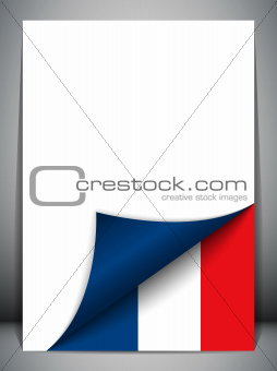 France Country Flag Turning Page