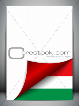 Hungary Country Flag Turning Page