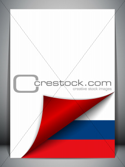 Russia Country Flag Turning Page