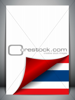 Thailand Country Flag Turning Page