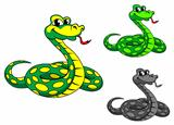 Funny cartoon python snake