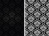 Vintage damask seamless backgrounds