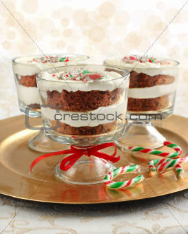 Candy Cane chocolate trifle