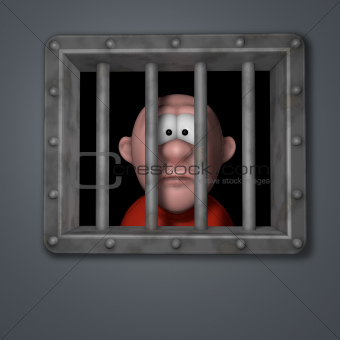 cartoon guy in prison