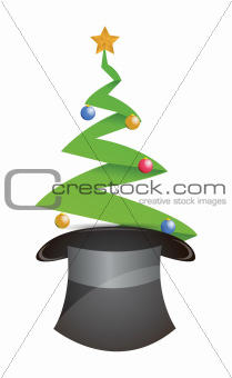 christmas tree and hat