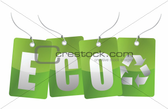 eco green tags