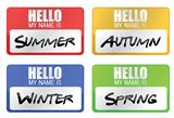clime seasons name tags