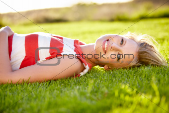 Smiling on the grass