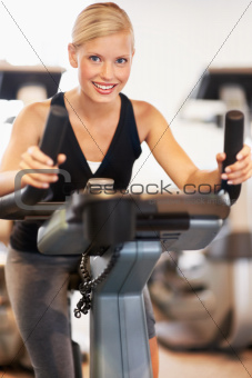 Staying in shape using the exercise bike