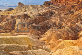 Death valley Zabriskie point desert