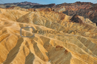 Death valley Zabriskie point landscape