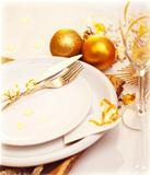 Luxury Christmas table decoration