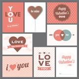 Happy valentine's day and weeding cards