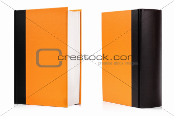 blank hardcover book isolated on white
