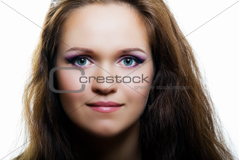 portrait of an attractive girl. fashion makeup