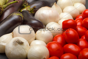 Multicolored Vegetable Variety background