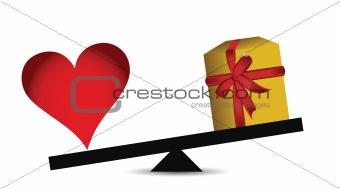 love vs presents balance