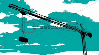 Tower crane sketch