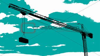 Tower crane sketch
