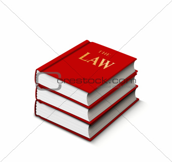 Books of law stack