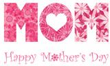 Happy Mothers Day Mom Alphabet Flowers