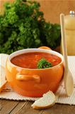 traditional Russian Ukrainian food soup borscht