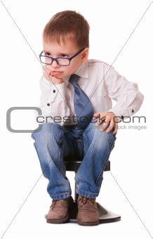 Serious young genius