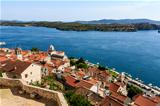 Panoramic View of Sibenik and Saint James Cathedral from Above,