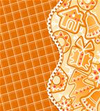 Gingerbread colofrul background