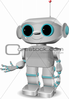 cheerful plastic robot