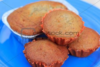 four banana muffin cakes