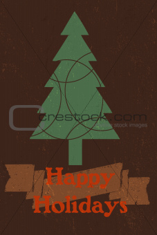 A vintage style Happy Holidays graphic