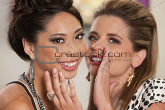 Smiling Friends Sharing Secrets