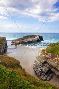 Beach at Lugo coast