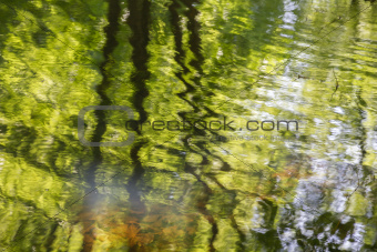 Natural water reflections textured background.