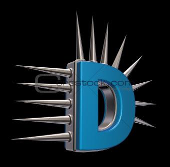 prickles letter d