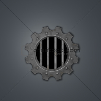 gear wheel prison window