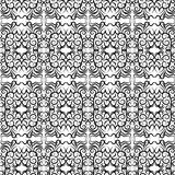 Vector seamless lace pattern. Black on a white background