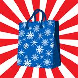 Winter sales shopping bag