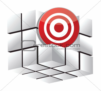 3d target cube