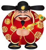 Chinese Prosperity Money God with Scepter