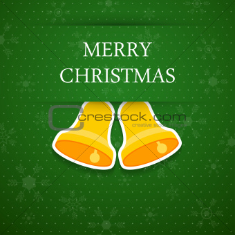Merry christmas background with bell.
