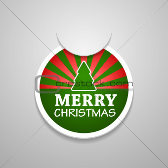 Circle attach merry christmas sticker.