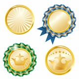 Vector gold medals set.