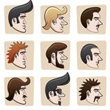 Cartoon men heads