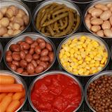 Collection of canned vegetables