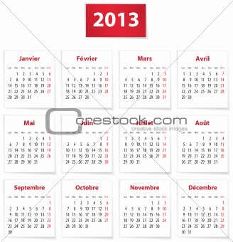 2013 French calendar