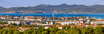 Dalmatian city of Zadar panoramic view
