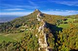 Green scenery of Kalnik mountain ridge