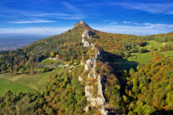 Green scenery of Kalnik mountain ridge